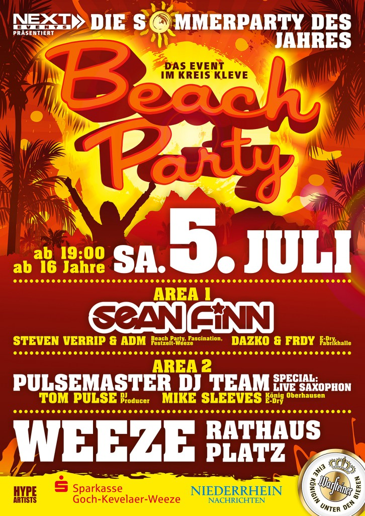 Plakat Beach Party Weeze 2014