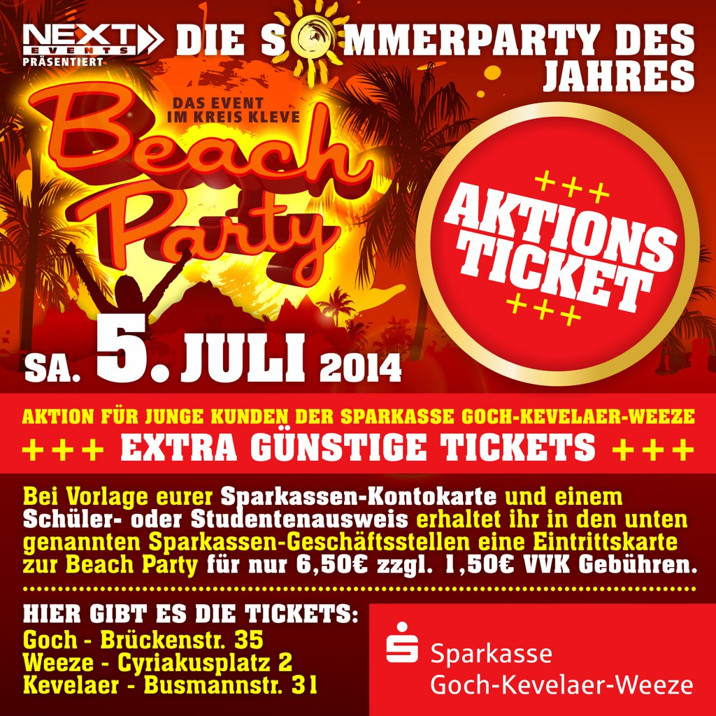 Sparkasse Aktionstickets